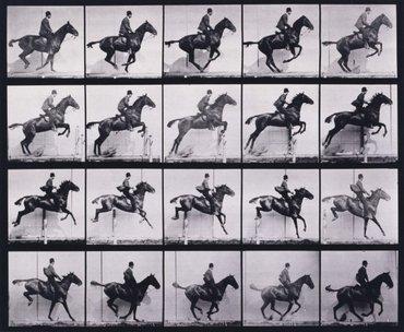 Eadweard Muybridge (1830-1904), Jumping a hurdle